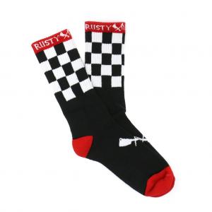 Rusty Butcher Socks - Finish line