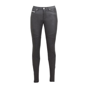 John Doe Ladies Jeans - Betty Biker Jeggings Schwarz XTM