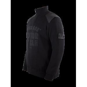John Doe Zip Pullover - Big Logo Schwarz