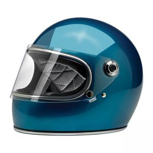 Biltwell Helm Gringo S - Glanz Pacific Blau ECE