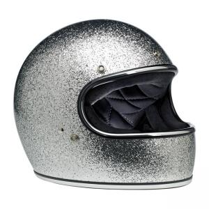 Biltwell Helm Gringo - Glitter Silber ECE