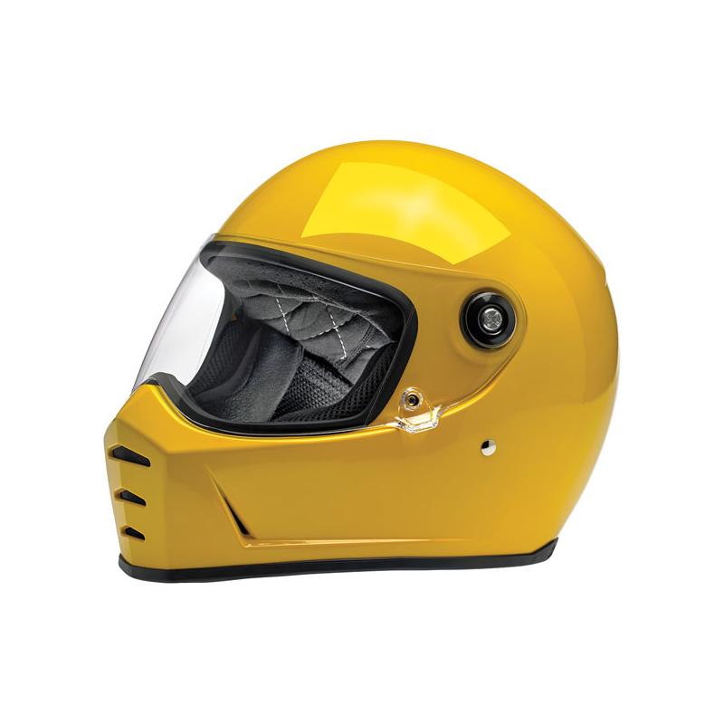 Biltwell Helm Lane Splitter - Glanz Safe-T Gelb ECE