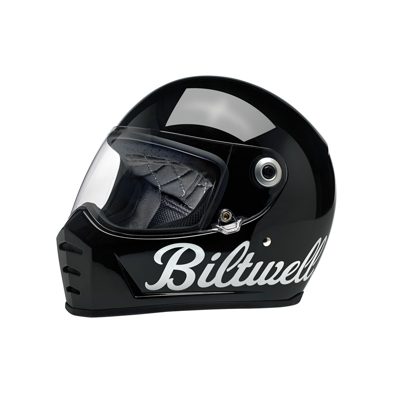 Biltwell Helm Lane Splitter - Glanz Schwarz Factory ECE