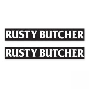Rusty Butcher Aufkleber - RB Sportster Schwinge