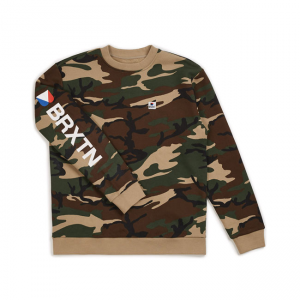 Brixton Sweater - Stowell Camouflage