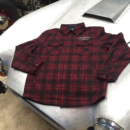 West Coast Choppers Jacket - Quilted Gang Red/Black