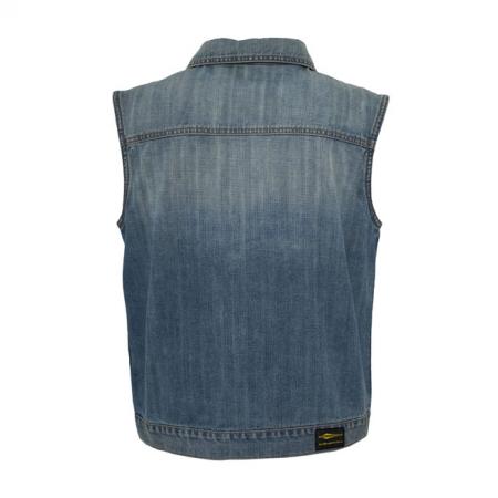 MCS Denim Vest - Blue with Collar