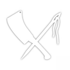 Rusty Butcher Aufkleber - Logo 5 inch
