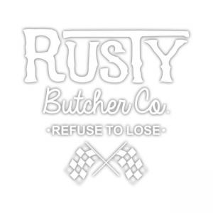 Rusty Butcher Aufkleber - Finish Line