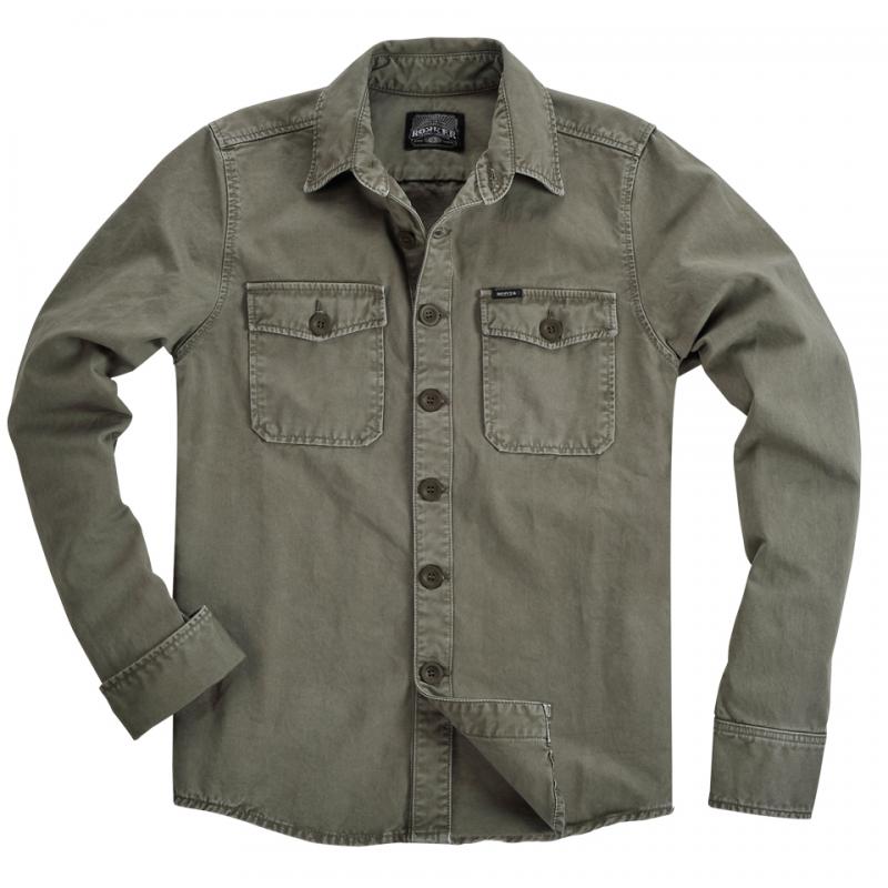 Rokker Hemd - Worker Shirt Grün