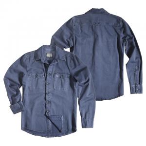 Rokker Hemd - Worker Shirt Blau