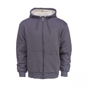 Dickies Zip Hoodie - Sherpa Lined Fleece Grau
