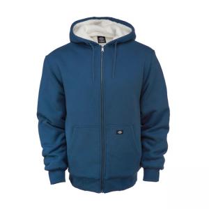 Dickies Zip Hoodie - Sherpa Lined Fleece Blau
