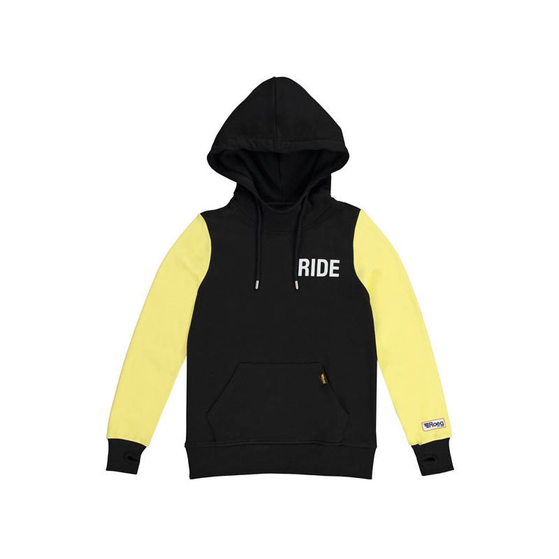 ROEG Frauen Hoodie - Summer Black/Yellow