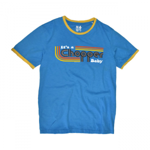 13 1/2 T-Shirt - It's a Chopper Baby Blau