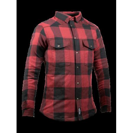 John Doe Ladies Hemd - Motoshirt Rot/Schwarz