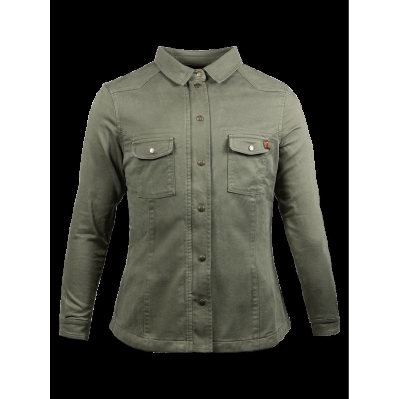 John Doe Ladies Hemd - Motoshirt Olive