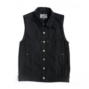 Rusty Butcher Denim Vest -...