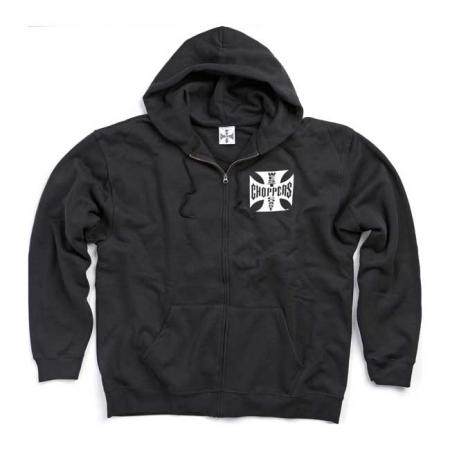 West Coast Choppers Zip Hoodie - Schwarz