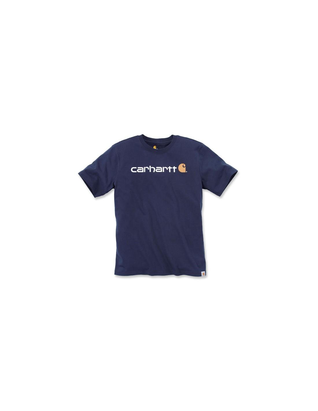 X-Small Carhartt Core Logo T-Shirt Alpine Heather