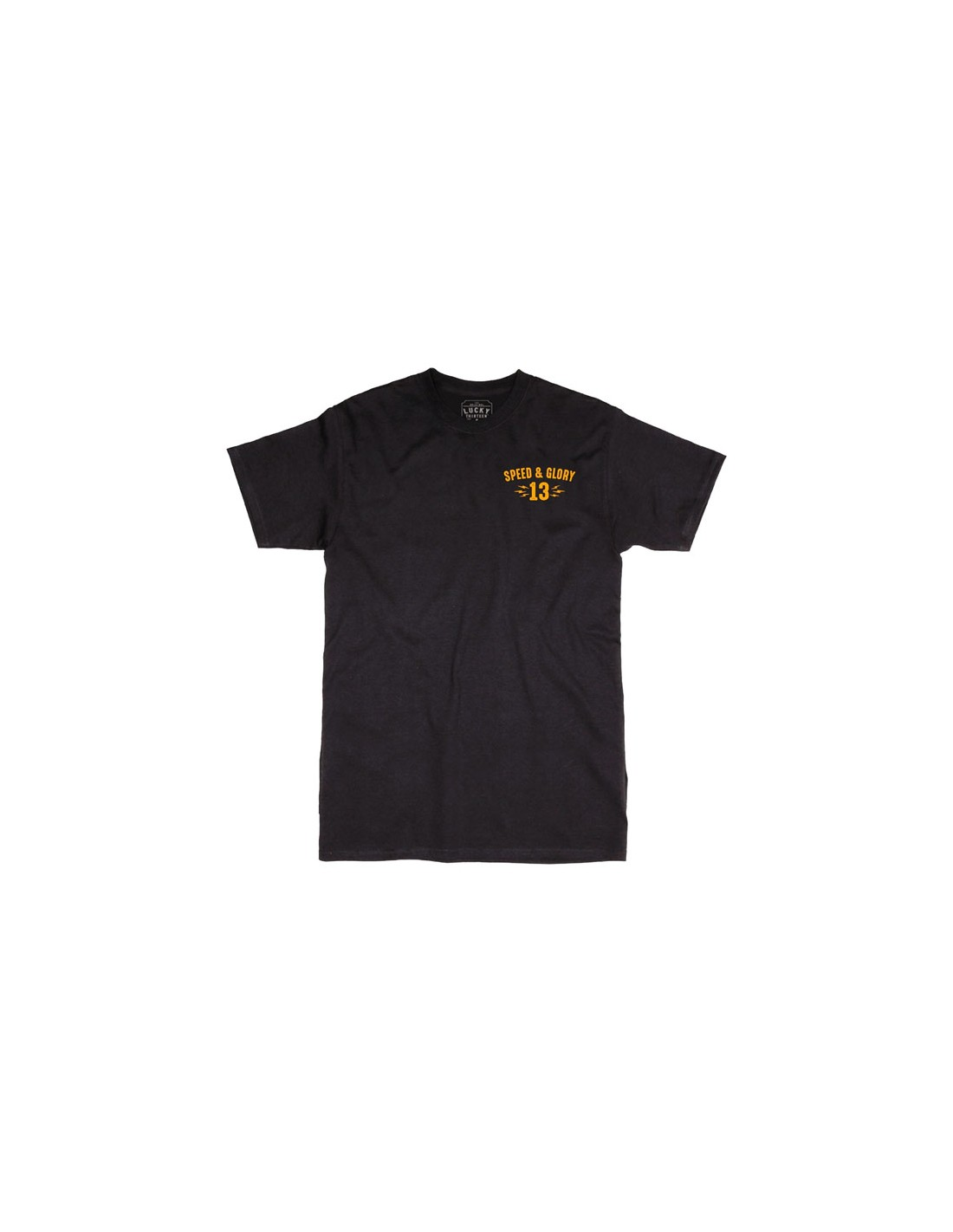 Lucky 13 T-Shirt Speed and Glory Black