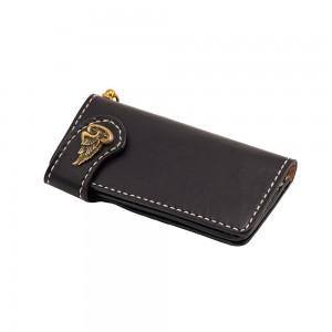 70s Wallet - Long Flat Black
