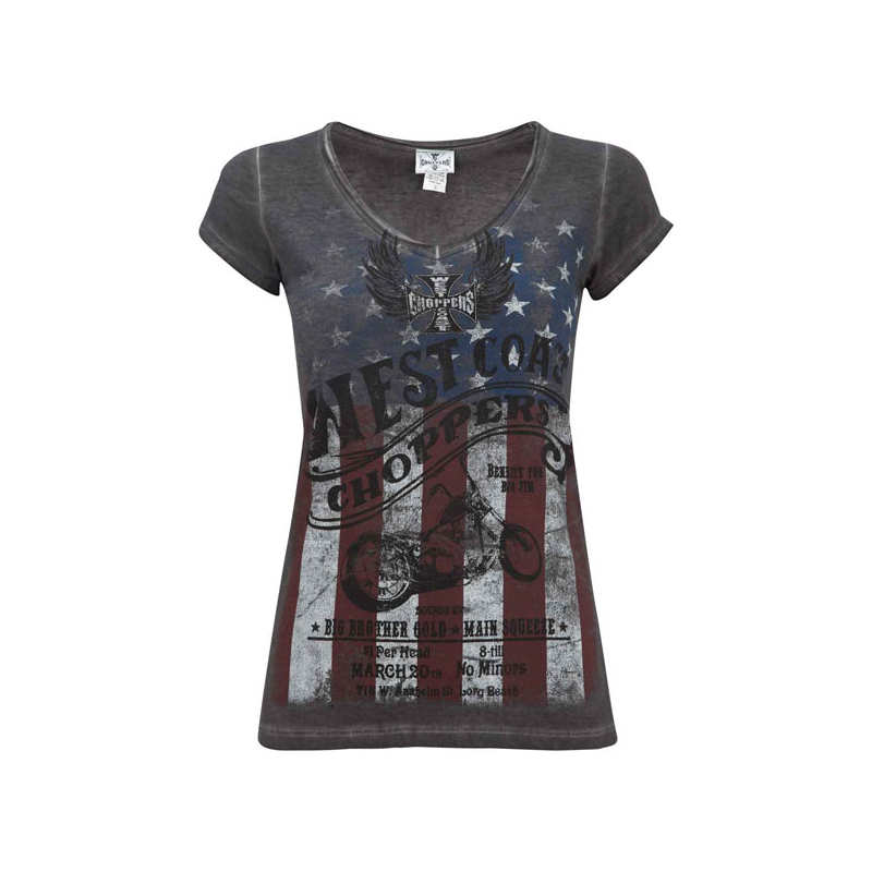West Coast Choppers Ladies T-Shirt - American Pride
