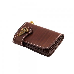 70s Wallet - Shorty Flat Brown