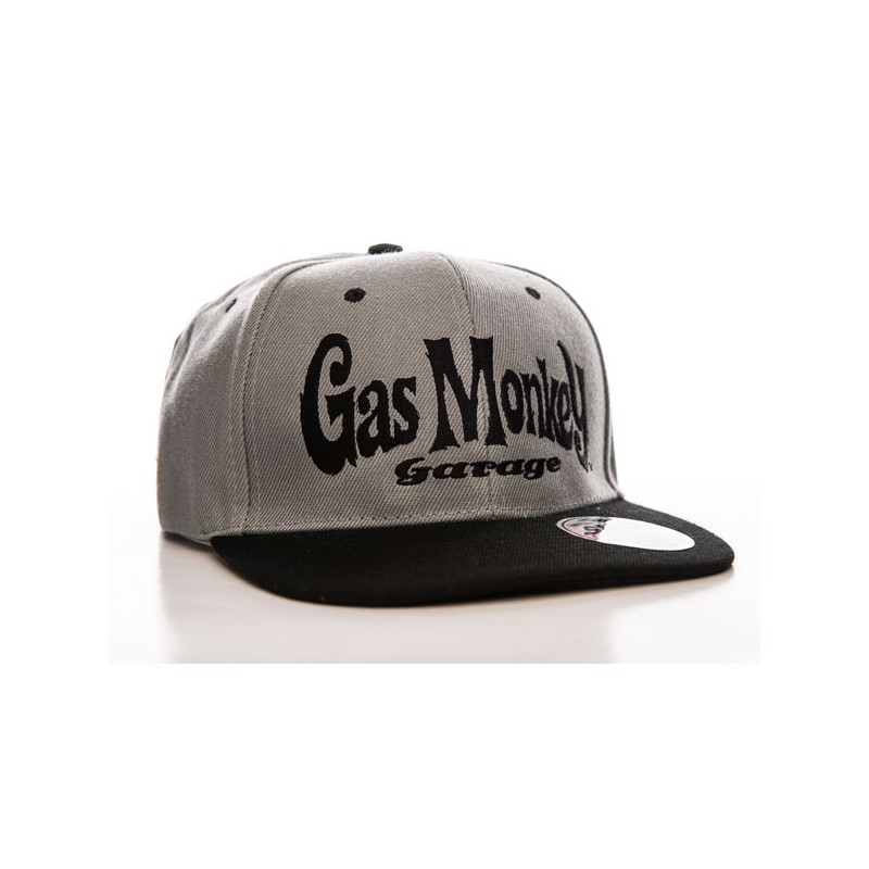 Gas Monkey Garage Cap Logo Snapback Grey
