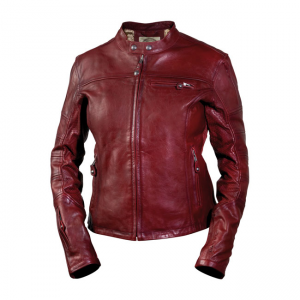 Roland Sands Ladies Leather Jacket - Maven Oxblood