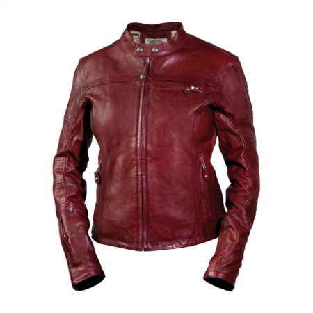 Roland Sands Ladies Leather Jacket - Maven Oxblood
