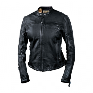Roland Sands Ladies Leather Jacket - Maven Black