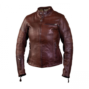 Roland Sands Ladies Leather Jacket - Maven Tobacco