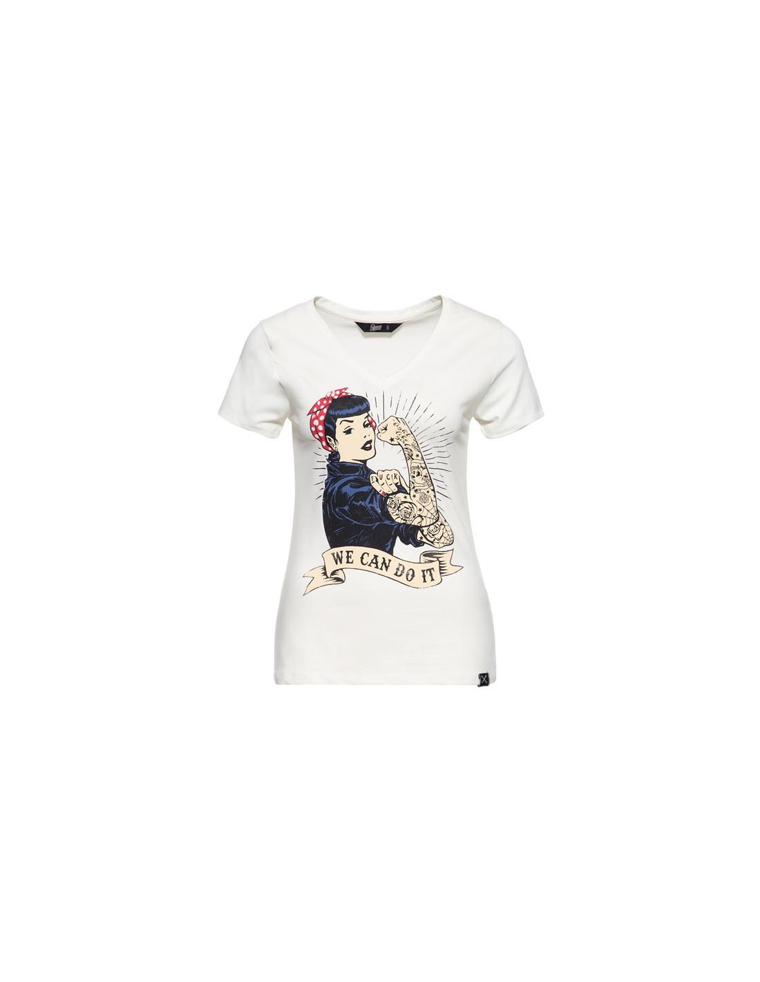 King Kerosin Queen Kerosin Female Damen Dip Dye Shirt The Holy Ride White