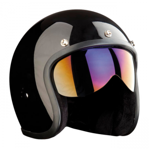 Bandit Jet Helmet Push-Fit Visor - Iridium Mirrored