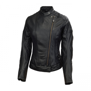 Roland Sands Ladies Leather Jacket - Riot Black