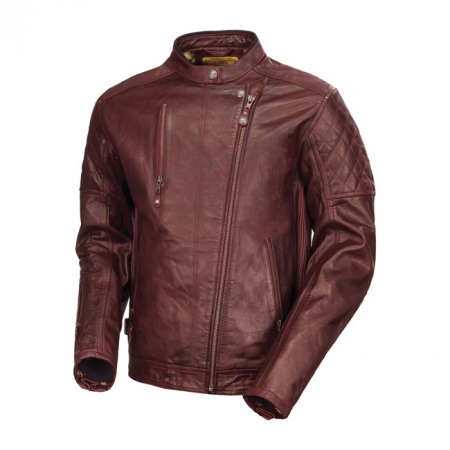 Roland Sands Lederjacke - Clash Oxblood