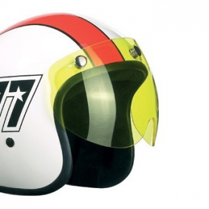BANDIT JET VISOR SHORT, YELLOW