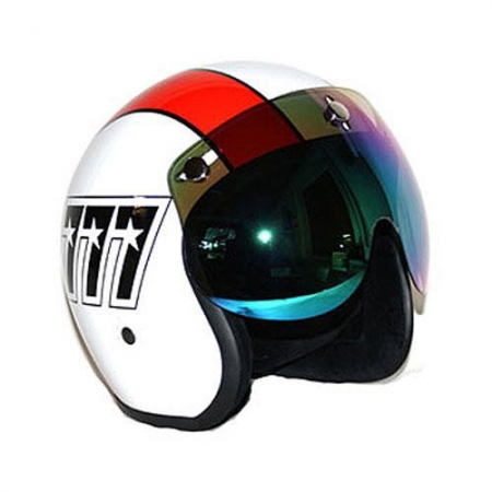 BANDIT JET VISOR SHORT, IRIDIUM MIRRORED