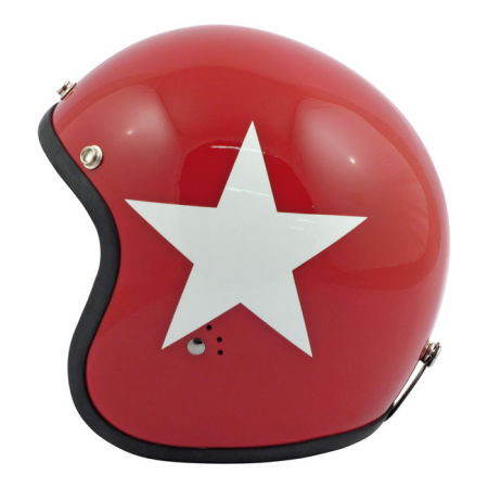 Bandit Helmet Jet - Star Red with White Star (Leopard Edition)
