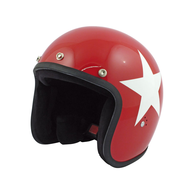 Bandit Helmet Jet - Star Red with White Star