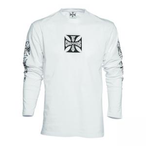 West Coast Choppers Langarmshirt - Maltese Cross Weiss
