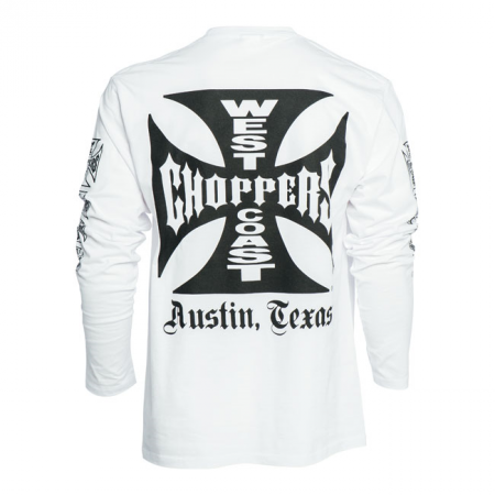 West Coast Choppers Langarmshirt - Maltese Cross Weiss