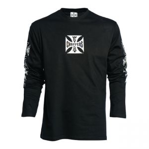 West Coast Choppers Langarmshirt - Maltese Cross Schwarz