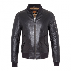 Schott NYC Leather Jacket - MA-1 Bomber