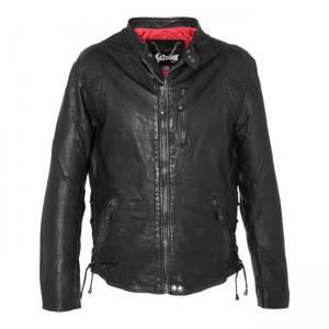 Schott NYC Leather Biker Jacket - Antic Black