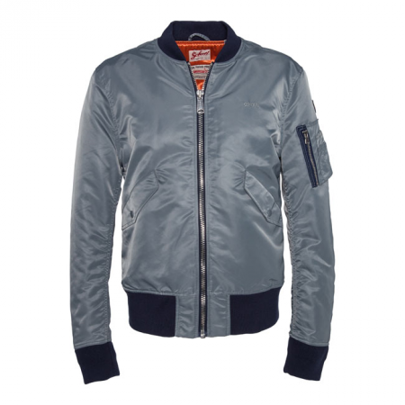 Schott NYC Jacke - American Collage Grau