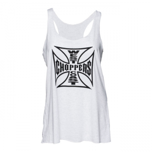 West Coast Choppers Tank Top - Maltese Cross Weiß