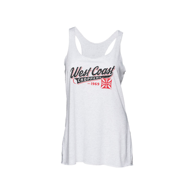 West Coast Choppers Tank Top - Baseball Weiß