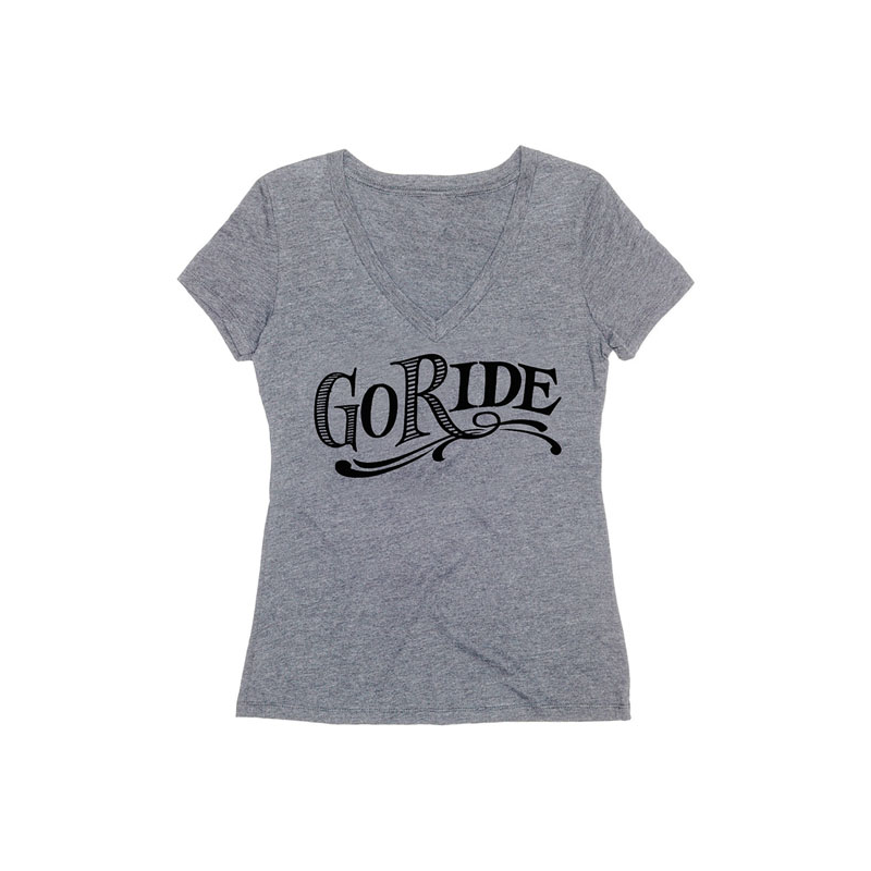 Roland Sands Design Frauen T-Shirt - Go Ride Grau